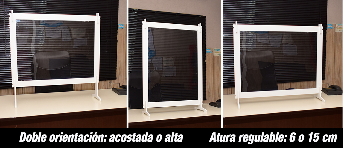 Barrera sanitaria bi orientable modular